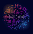 blogging round colorful vector image vector image