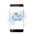 brush calligraphy and smartphone vector image vector image