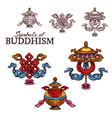 buddhism religion auspicious symbol sketch vector image vector image
