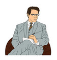 business man in a suit vector image
