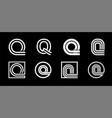 capital letter q modern set for monograms logos vector image