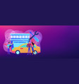 car service concept banner header vector image vector image