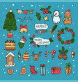 christmas design elements quality flat vector image vector image