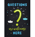 classroom motivational poster on questions and vector image vector image