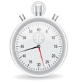 clock watch metallic on white background vector image
