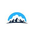 cloud mountain logo icon design vector image