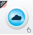 Cloud sign icon Data storage symbol vector image vector image