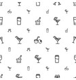 cocktail icons pattern seamless white background vector image vector image
