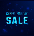 cyber monday discount offer banner vector image vector image