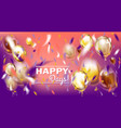 disco party violet image with matallic balloons vector image vector image