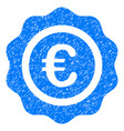 euro quality seal grunge icon vector image vector image