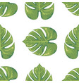 exotic leaf seamless with watercolor style trendy vector image vector image