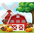 Farmhouse vector image vector image