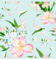 flox flower seamless vector image vector image