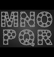 Font design made of circles in the letters vector image vector image