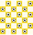 Football Ball Yellow White Chess Board vector image vector image