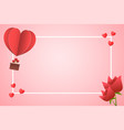 frame paper style love of valentine day heart vector image