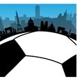 France cities skylines with football ball vector image vector image