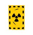 grunge poster radioactive sign on grunge vector image