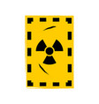 grunge poster radioactive sign on vector image