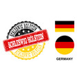 grunge textured schleswig-holstein stamp seal with vector image vector image