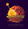 halloween party background design vector image vector image