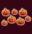 halloween pumpkin icon vector image