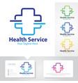 health service logo vector image vector image