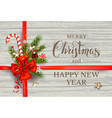 holiday design with wood vector image vector image