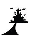 house halloween silhouette vector image