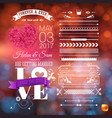 image cute we are getting married stationery vector image vector image