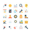 Industrial Colored Icons 2 vector image vector image