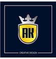 initial letter ak logo template design