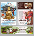 japan culture and history tradition sketch symbols vector image