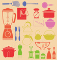 kitchenset vector image vector image