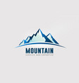 large mountain peaks with horizon logo vector image vector image