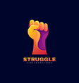 logo struggle gradient colorful style vector image