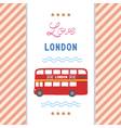 Love London card1 vector image