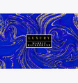 Luxury blue marble background with gold swirls