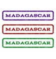 madagascar watermark stamp vector image