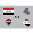 Map of Iraq and symbol vector image