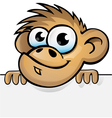monkey with background vector image
