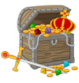 Open Treasure Chest vector image vector image