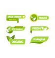 organic vegetarian banner set natural vector image