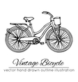 outline vintage bicycle vector image