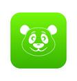 panda icon digital green vector image