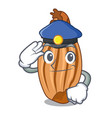 police cartoon shallot onion on the table vector image vector image
