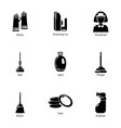 purification icons set simple style vector image