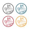 queensboro bridge in new york labels set vector image vector image