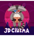 Raccoon Cinema Poster vector image